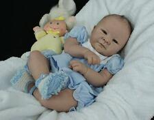 Reborn Doll Kit Blank Soft Vinyl Head 3/4 Limbs Lifelike Realistic Doll Kits