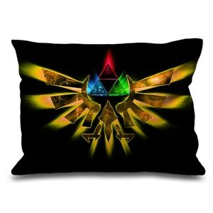 Details About Legend Of Zelda Symbol Throw Pillow Case 16 X 24 And 18 26 Cushion Cover