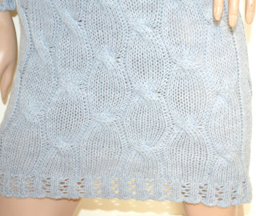 Alto G70 Made Collo Lunga Donna Italy Vestito Maglione Manica Abito Grigio Lana PF1q01