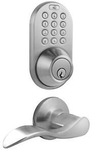 Smart MiLocks Electronic Touchpad Entry Keyless Deadbolt and Passage Lever