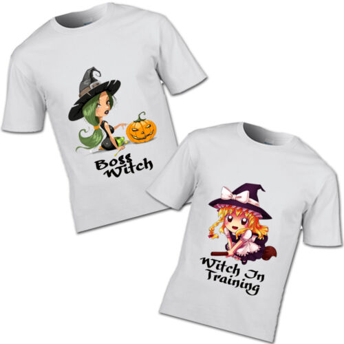 Boss Witch and Witch In Training T-shirt Halloween Witch Spooky Scary Haunted