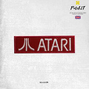 ATARI Video Game Logo  Iron On Patch Sew On Badge.