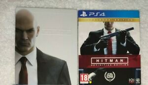 HITMAN-STEELBOOK-PLAYSTATION-4-NO-GAME-INCLUDED-PS4-RARE