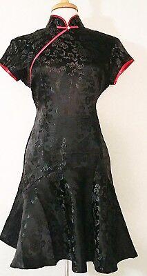 Sexy Dress Mini Cheongsam Dress Modern Dragon Flower Print Cheongsam Dress