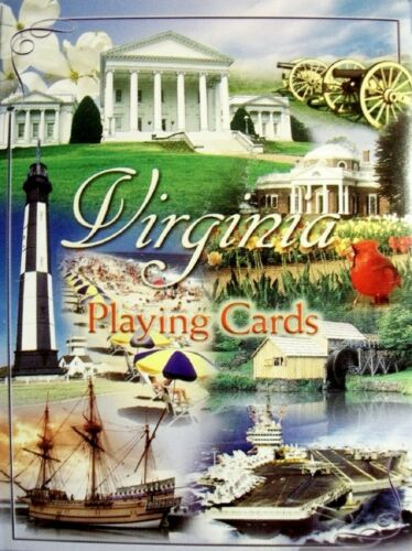 Virginia State Collage Souvenir Playing Cards