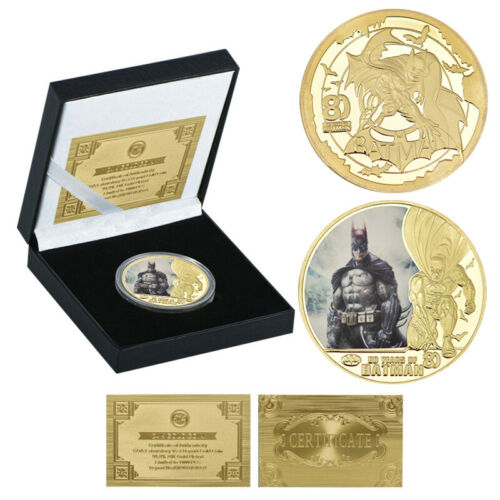 5pcs Batman Gold Challenge Coin Plastic Banknote 80th Anniversary For Collection