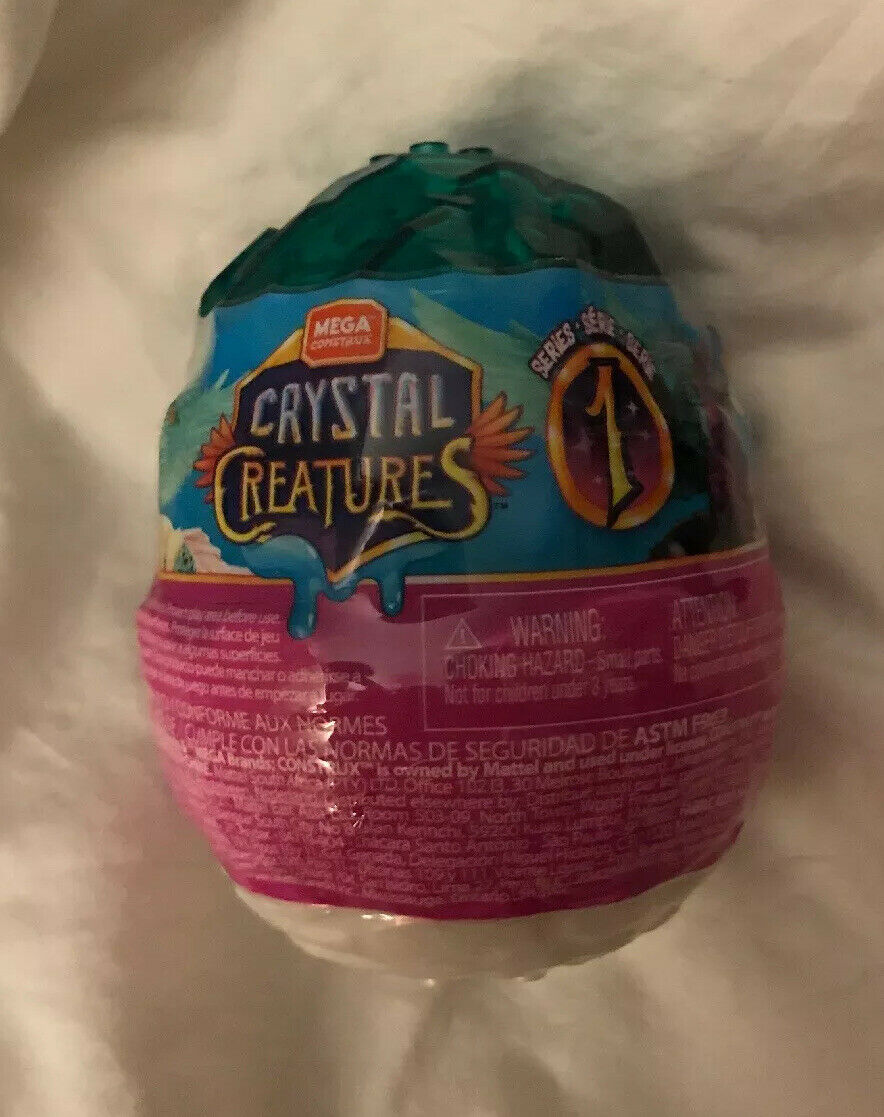 Mega Construx Crystal Creatures Series 1 ROSESTONE 06 Slime Egg New Unopened