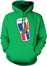 Dominican Republic Pint Glass Flag Republica Dominicana DOM DO Hoodie Sweatshirt