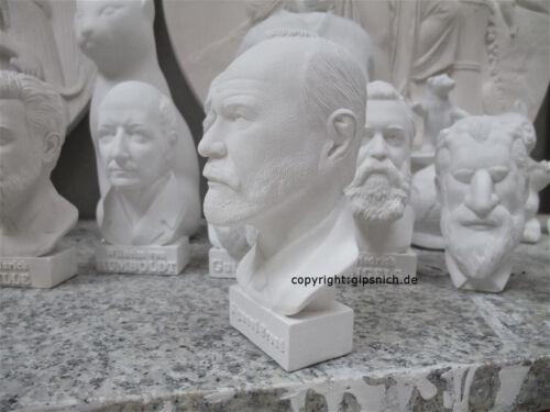 1939 Nuovo Bella Decorazione Sigmund Freud gesso Busto psichiatra e neurologo 1856