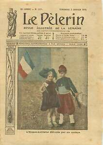 "WWI Belle Epoque Enfants Alsace-Lorraine Zouave Costume France 1915 ILLUSTRATION - France - Commentaires du vendeur : ""OCCASION ATTENTION,QUE LA COUVERTURE, PAS LE JOURNAL ENTIER. Just the cover, not newspaper."" - France"