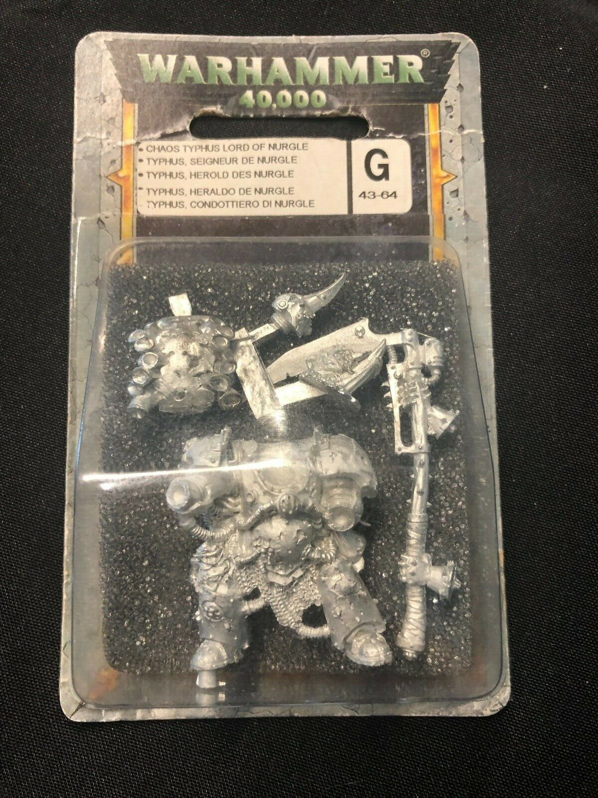 Juegos Workshop Warhammer 40k Chaos Space Marines Nurgle Lord Terminator Typhus