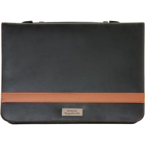 Aktenmappe Wellington Schreibmappe aus Bonded Leather mit Gravur Namen
