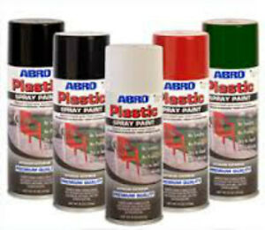 Details about ABRO PLASTIC GLOSS BLACK Spray Paint PVC WINDOW or RESIN  400ml No sanding need