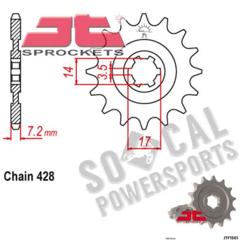 2011-2017 JT Sprockets Countershaft Sprocket 428 Pitch 12T Kawasaki KLX140