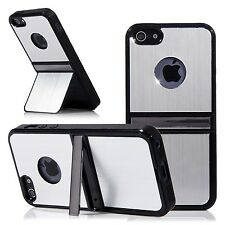 Silver Color Brushed Aluminum Steel Chrome Hard Cover Case For iPhone5 5S