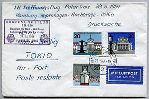 100% De Qualité Ffc 1964 Lufthansa Primo Volo Lh 650 - Francoforte Copenaghen Tokyo Bien Vendre Partout Dans Le Monde