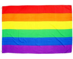 Fahne Peace Querformat 90 x 150 cm Hiss Flagge Frieden Regenbogen