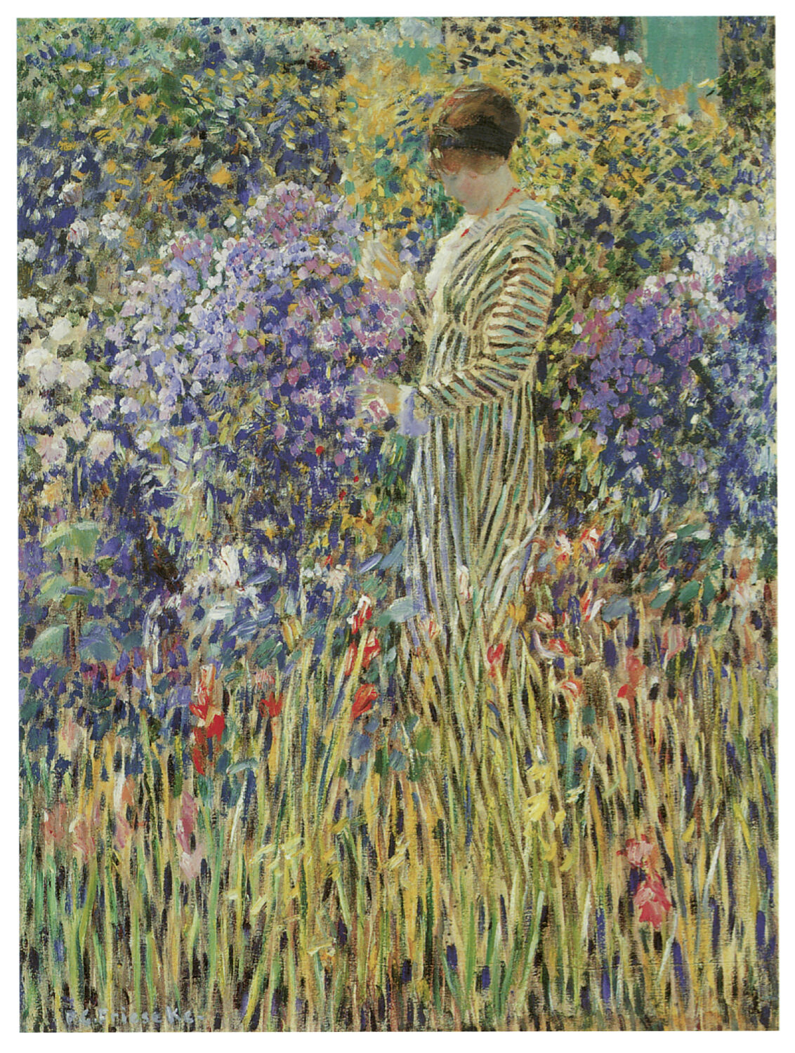 1203.Garden Lady paint Art Decoration POSTER.Graphics to decorate home office.