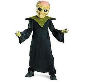NEW Evil Alien Halloween Costume Dress up Outer Space Mask Robe ...