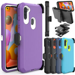 For-Samsung-Galaxy-A11-A21-Case-Shockproof-Belt-Clip-Holster-Stand-Armor-Cover