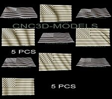 New Listing3d Model Stl For Cnc Router Carving Artcam Aspire Usa Flag America Pano D287