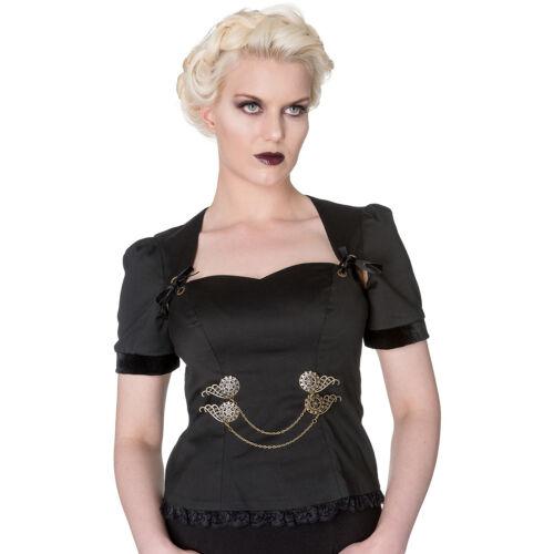 Noir Manches Courtes Steampunk Doctor Lorena Spin Rouage Gothique Larp Ix1wqRXt