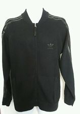 Adidas mens cardigan jumper black size M original VGC