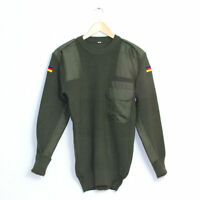 Unissued German Army Surplus Olive Green Wool Jumper Pullover Combat Sweater