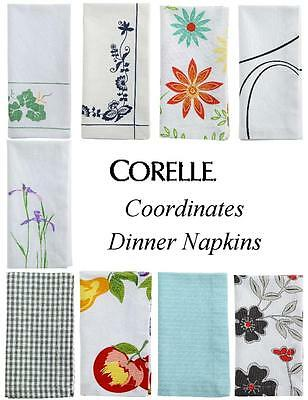 "CORELLE Coordinates 20"" Square DINNER NAPKINS 100% Cotton NEW *PICK Your PATTERN"