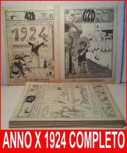 420-SETTIMANALE-POLITICO-SATIRICO-Anno-X-1924-COMPLETO-Nerbini