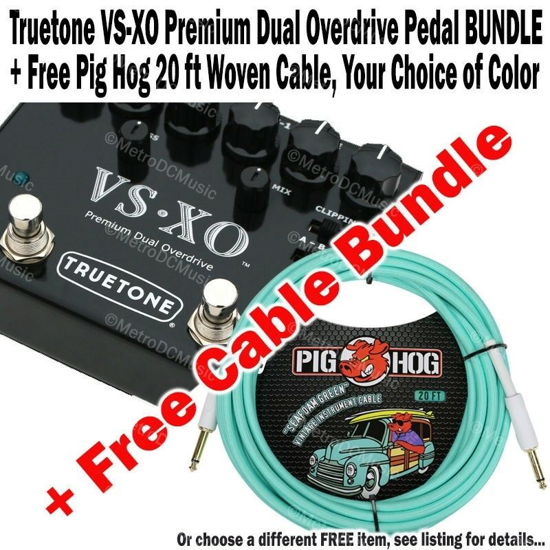 TRUETONE VS-XO Dual Overdrive NEW + FREE Pig Hog 20 ft Woven Cable BUNDLE NEW