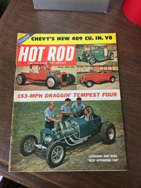 April, 1961 Hot Rod Magazine Louisiana Rod Wins Best Appearing Car