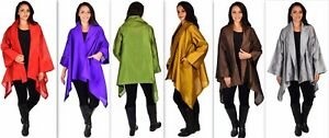 Women-Plus-Size-Poly-Silk-Designer-Cover-Up-Duster-Jacket-Sizes-1X-6X