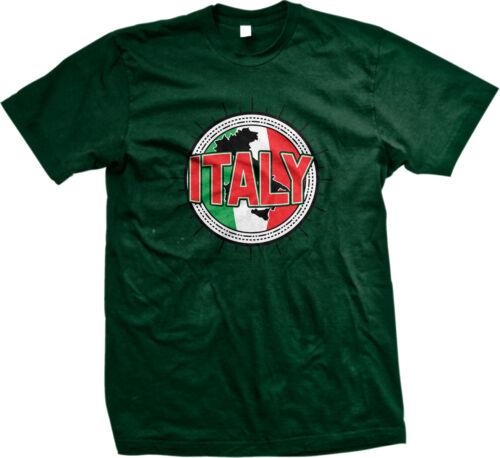 Italy Flag Map Outline Italian Italianos Pride Repubblica Italiana Mens T-shirt