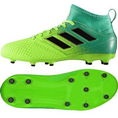 more photos c5100 de3c8 Adidas Ace 17.1 FG/ JUNIOR Football Boots SOLAR GREEN / BLACK | eBay