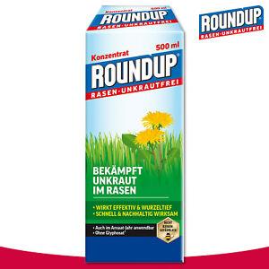 Roundup-Rasen-Unkrautfrei-500-ml-Konzentrat-Wegerich-Brennnessel-Weissklee-Garten