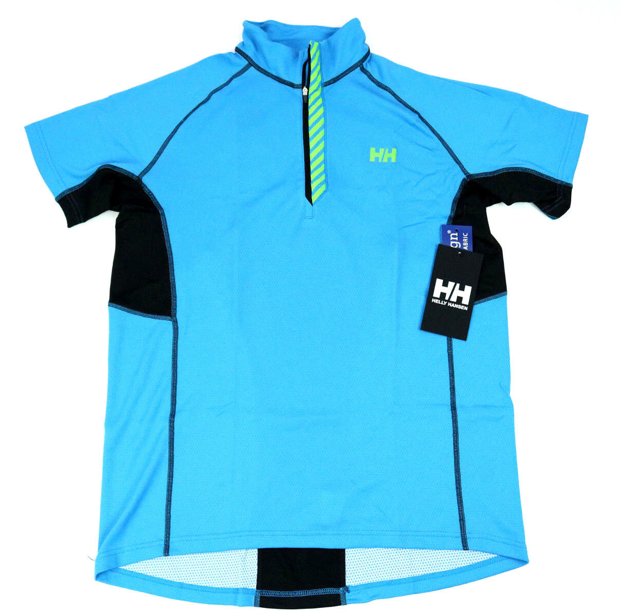 Helly Hansen  Herren Activewear XL Pace 1/2 Zip Lifa Flow Short Sleeve Blau Top