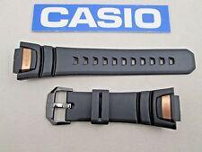 Genuine Casio G-Shock GIEZ GS1050B black & gold resin rubber watch band strap