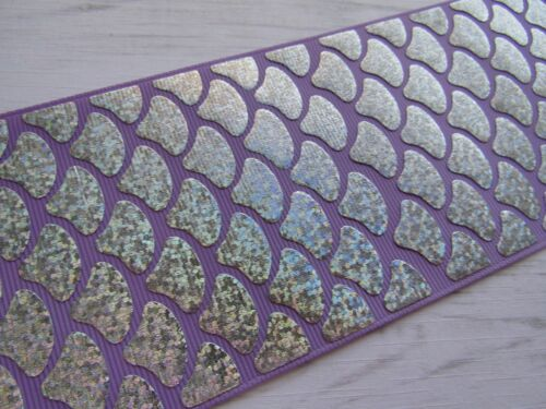 """1 2 3  METRE MERMAID SCALE FOIL RIBBON..3/""""..IDEAL FOR BOWS AND CRAFTS CHOICES"""