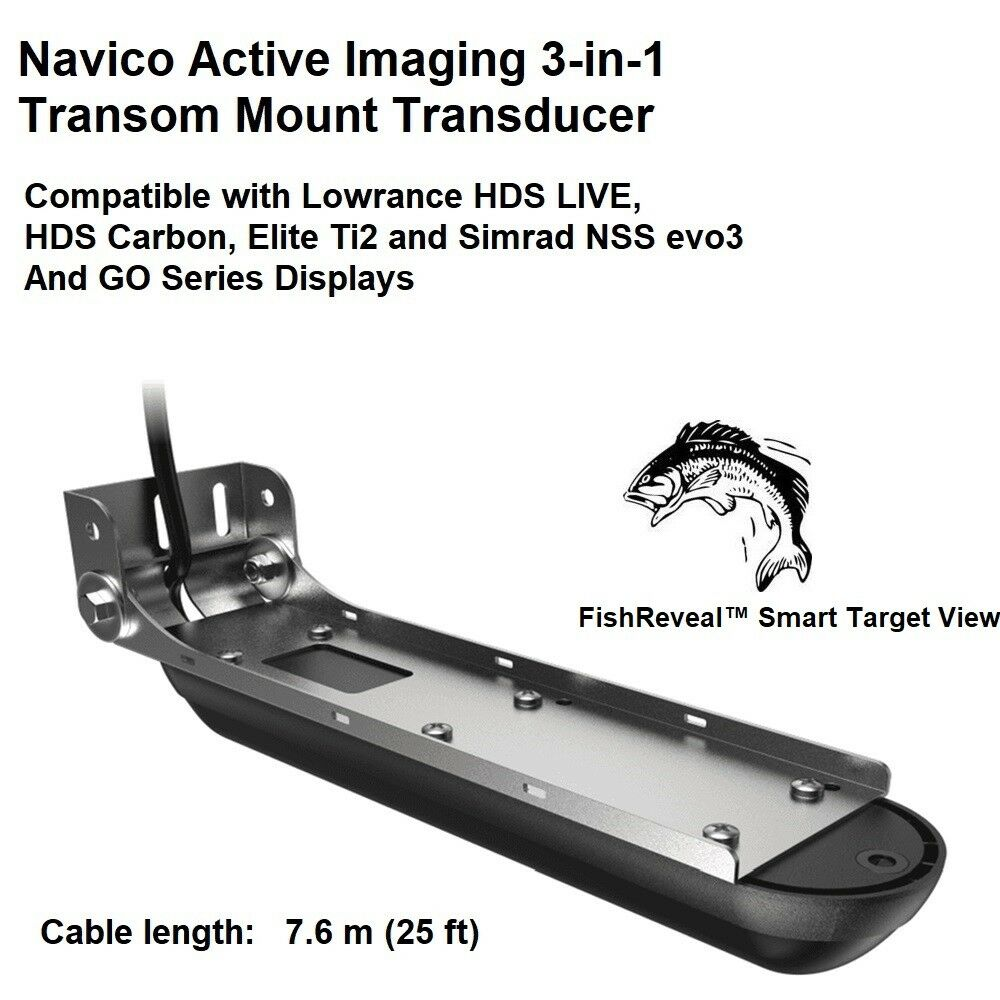 Navico Active Imaging 3-in-1 TM Transducer Compatible With  Lowrance and Simrad  fair prices
