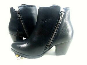 Black Leather Boots Closed Toe Boots