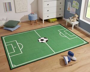 kinderteppich fu ballteppich spielteppich fu ballfeld teppich kinderzimmer gr n ebay. Black Bedroom Furniture Sets. Home Design Ideas