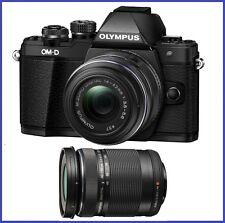 Olympus OM-D E-M10 Mark II with 14-42mm II R & 40-150mm f/4-5.6 Lenses [Black]