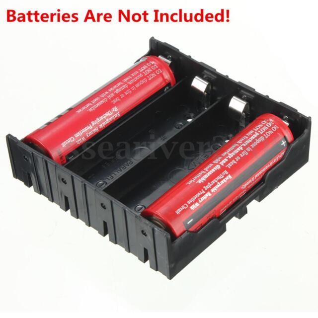 1pcs DIY Black Storage Box Holder Case For 4 x 18650 3.7V Rechargeable Batteries