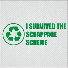 I-SURVIVED-THE-SCRAPPAGE-SCHEME-FUNNY-VINYL-STICKER-DECAL-VAN-CAR-GRAPHICS