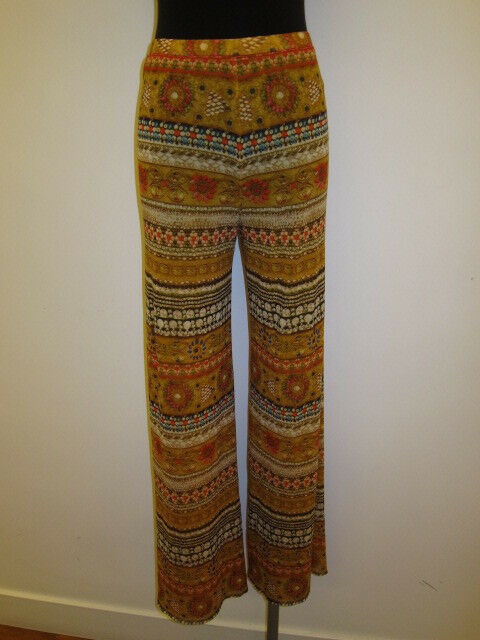 JEAN PAUL GAULTIER MESH STRETCHY STRAIGHT LEG PRINTED PANTS  Sz XS