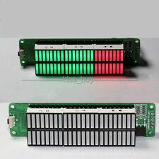 Dual 24 Stereo Level indicator DIY Kit LED VU Meter lamps Light Speed Adjustable