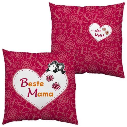 Sheepworld 42552 Kissen Beste Mama der Welt 40 x 40 cm