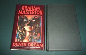 1989-First-edition-in-Dust-Jacket-of-Death-Dream-by-Graham-Masterton-Horror