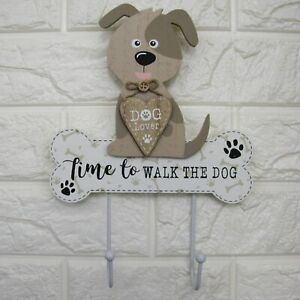 Special-order-Twin-Hooks-Wall-Mounted-Decorative-Dog-Lover-Gift-Natural-Wood